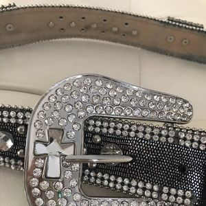 Women's Belt with crystal Crosses Size XL